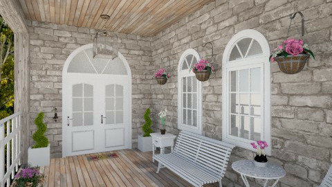 porch 1 - Rustic - Garden  - by Lackew