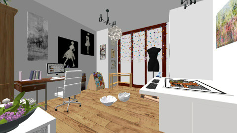 House - Office - by Angelik Medina Sanchez