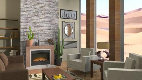 Living in the desert - Eclectic - Living room  - by teen bedroom