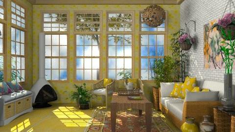 Sunny Porch - Rustic - Garden  - by Bibiche