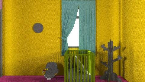 neon childs bedroom - Retro - Bedroom  - by laurabeacham97