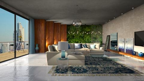 Tons de azul - Living room  - by Alecio
