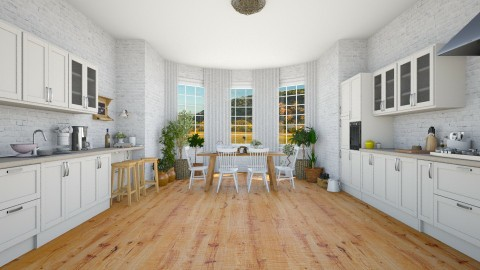 Farmhouse modern kitchen  - Kitchen  - by martinabb
