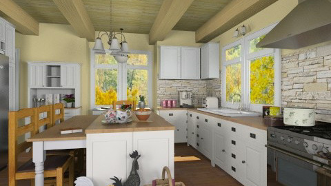 Country - Rustic - Kitchen  - by 66861499hala