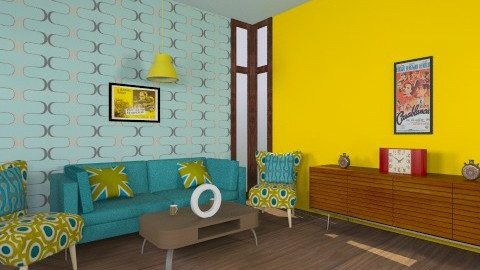 Retro Living Room - Retro - Living room  - by JazzyAllen