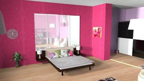 Pinks bedroom  - Modern - Bedroom - by stj502