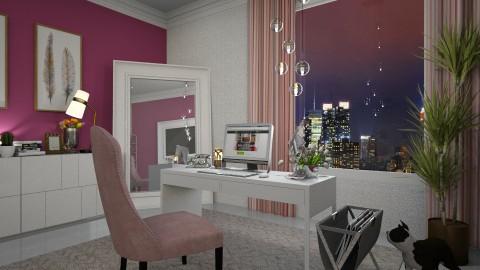 Home Office for Kelly Ros - Feminine - Office  - by Rose Hdz