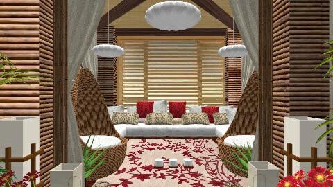 Hut Living - Living room - by Alex Yan