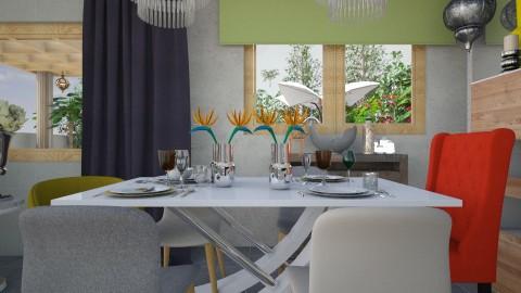 PRANZO SUL TEVERE - Vintage - Dining room  - by PROGETIM