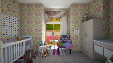 Toddler Girl Bedroom - Kids room  - by claudiairis04