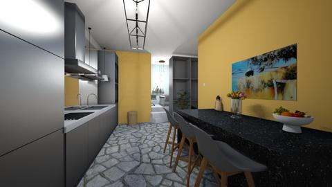 Kitchen with stairs - Kitchen  - by Meghan White