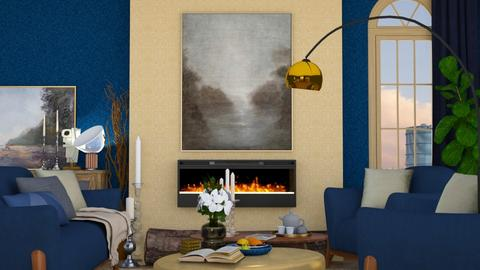 Blue and Gold - Rustic - by HenkRetro1960