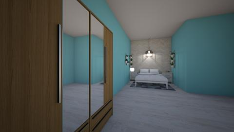 Cyan Room - Bedroom - by AbbyHedwig03