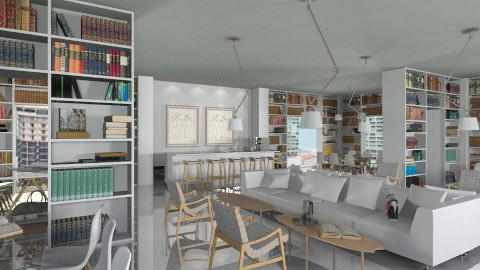 CafeLibrary - Modern - by AlSudairy S