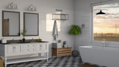 Farmhouse Bath - Bathroom - by kyrabaldwin