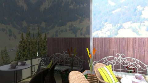 terrace  - Rustic - Garden  - by sahfs