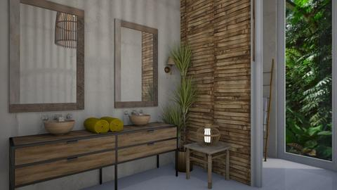 bamboo bathroom - by Muoz Rebeca