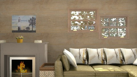 living room with fireplace - Living room - by mariannee1
