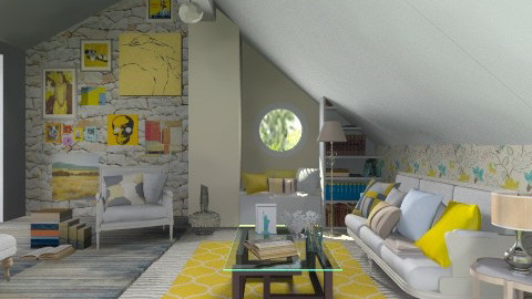 Sweet yellow dreams - Eclectic - Living room  - by Laurika