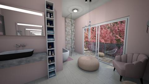 Cherry Blossom Bathroom - Bathroom  - by caitlynfhardy