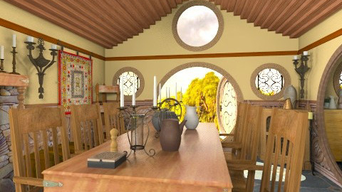 Sam Little House - Rustic - Dining room - by Bibiche