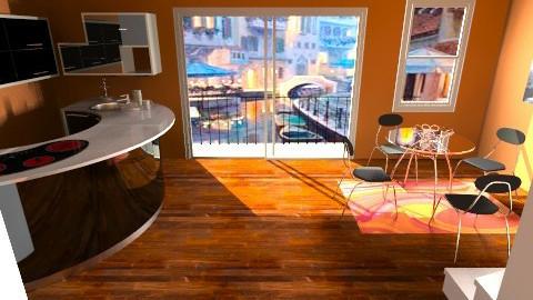 K Apartment Kitchen - Modern - Kitchen  - by HGranger2