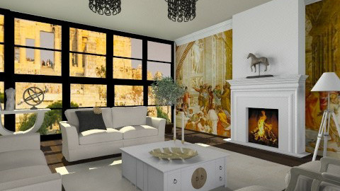 Acropol of Athens  - Classic - Living room  - by vesperart