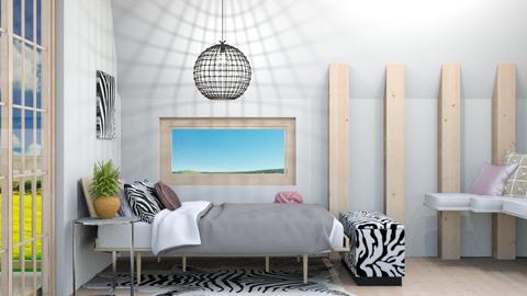 Airy Zebra Bedroom - Bedroom  - by weinsteinfam