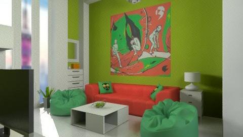 Plastic living  - Minimal - Living room  - by mirkaaa