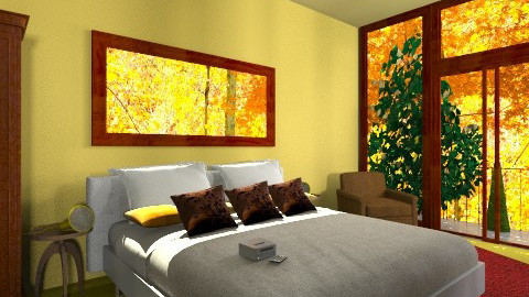 House in the fall - Country - Bedroom  - by Shinigami_lady