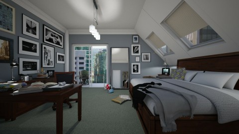 modern man - Classic - Bedroom  - by donella