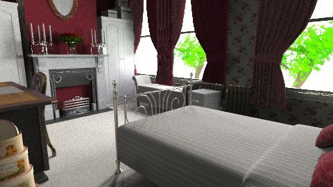 Victorian Red Velvet M - Classic - Bedroom  - by Lisett