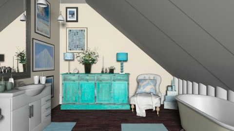 Turquoise bathroom - Classic - Bathroom  - by Laurika