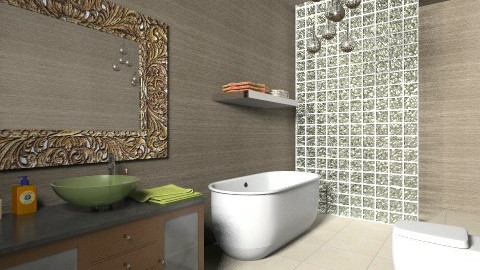 Modern Bathroom 5 - Retro - Bathroom  - by tillsa98