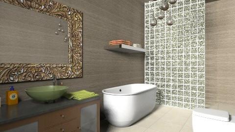 Modern Bathroom 5 - Retro - Bathroom  - by tillsa98