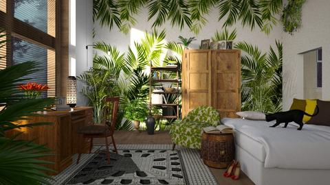 Jungle_Bedroom - Bedroom  - by ZuzanaDesign