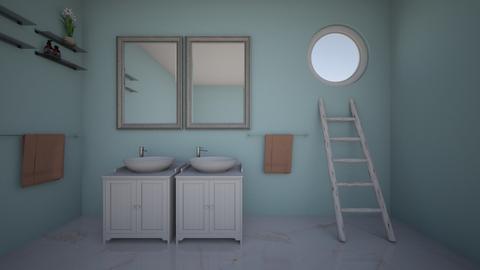 symmetrical bathroom - Bathroom  - by reagan_safko