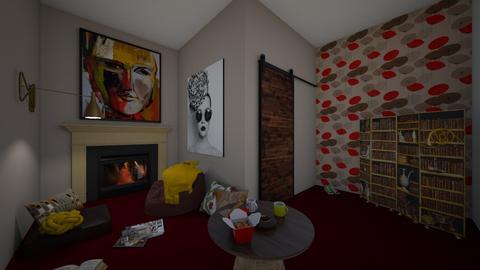 modern mess - Living room  - by vasilikif