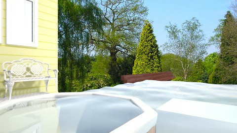 Smal Backyard with Spa - Classic - Garden  - by katia figueredo