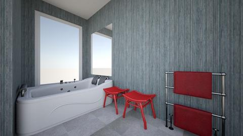banheiro vermelho - Eclectic - Bathroom  - by Danielle Gervazoni Bastos