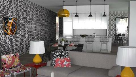 Kristin Montgomery - Glamour - Living room - by inspireddesigner