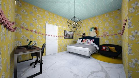 bedroom  - Modern - Bedroom - by Siby Paul
