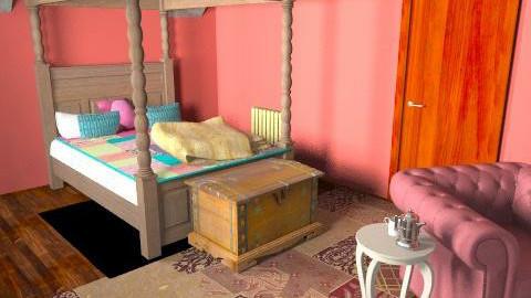 Attic Bedroom - Rustic - Bedroom  - by sn330272