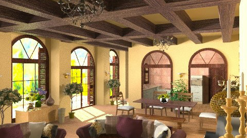 Tuscan home - Classic - Living room  - by KittiFarkas