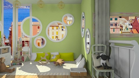 nursery green - Kids room  - by mikaela7