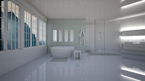Milky Mountain Bathroom - Bathroom  - by designcat31