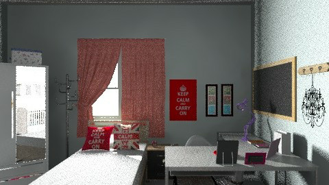 Meu quarto e Quarto do Mi - Vintage - Kids room - by lopez_rica