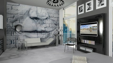 Studio Apartment - Modern - Living room  - by AlSudairy S