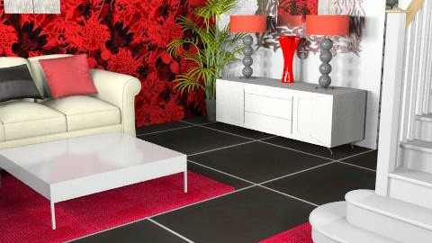 White/Red - Glamour - Living room  - by Cathd0411
