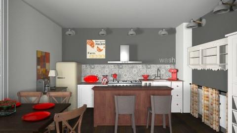 de campagne - Retro - Kitchen  - by Yoshi Yogataga